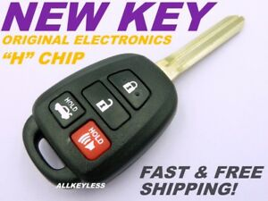 Oem Toyota Camry Keyless Entry Remote Fob Hyq12bdm H Chip New Case W Uncut Key