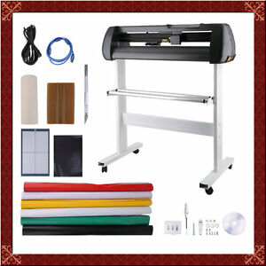 28 Vinyl Cutter Sign Cutting Plotter W Stand Design Cut Printer Sticker Oy01