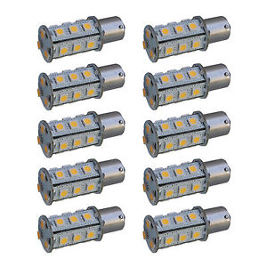 10 pack Hqrp Ba15s 18 Leds Bulb For 93 1073 1093 1129 1141 1156 Rv Interior