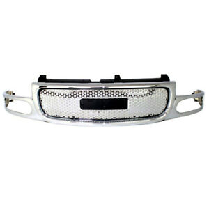 01 06 Yukon Denali Front Grill Grille Assembly Chrome Silver Gm1200510 19130789