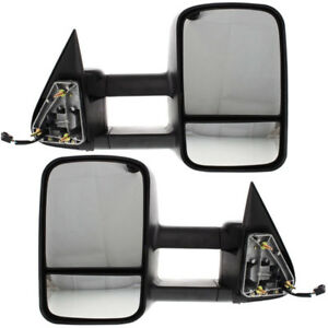 Chevy Truck Power Heated Upgrade Performance Tow Mirror Left Right Side Pair Set