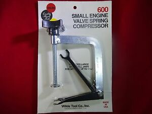 Wilde Tool 600 Professional Small Engine Valve Spring Compressor Usa Made