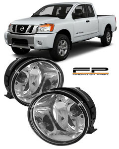 For 2004 2014 Nissan Titan Clear Replacement Fog Light Housing Assembly Pair