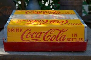 Vintage Artisan Coca-Cola Wooden Crate Stair Step