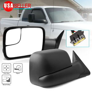 Tow Side Mirrors For 94 97 Dodge Ram 1500 2500 3500 Power Left Right 1994 1997