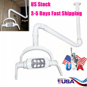 Dental Oral Light Lamp Operating Lamp 6 Led Lens Ceiling mounted Type With Arm