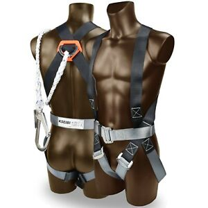 Kseibi 421020 Safety Fall Protection Kit Full Body Harness With 6 Shock absor