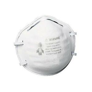 300 Pcs White Standard Size Particulate Respirator Free Shipping