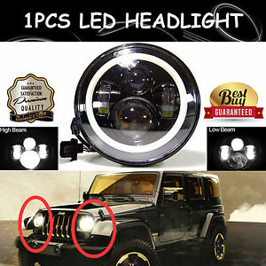 H5024 5024 7 inch Round Led Heavy Duty Headlight Lamp Technology Better Than Hid