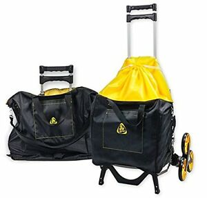 Upcart With Bag Bundle All terrain Stair Climbing Folding Cart Moves Up To 100 p