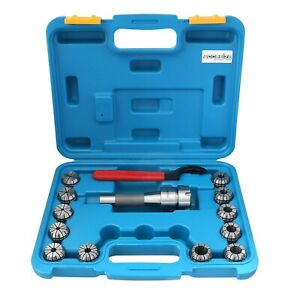 Accusizetools 12 Pcs set Er32 Collet R8 Bridgeport Shank Wrench In Fitted