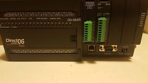 Direct Logic Koyo D0 06ar Plc Module With F0 04ad 2 And D0 08tr Modules