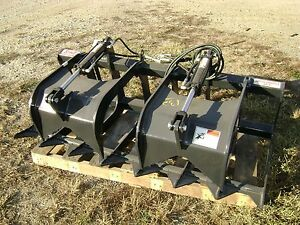 Stout 66 9 Skid Loader Brush Grapple Bucket