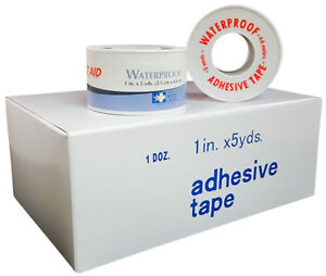 First Aid 1 X 5 Yds Waterproof Adhesive Tape Spool 48 Rolls By Awc Ms15150