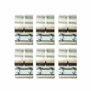 6pcs 5 Stainless Exhaust Band Clamp Step 5 Inch Clamp Lap Style Joint T304 New