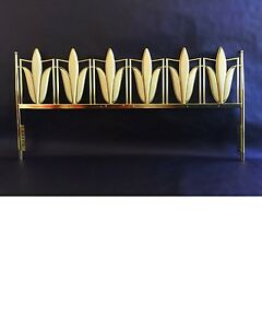 Mid Century Modern Arturo Pani Pair Brass Beds King Or Queen Single Headboard 50