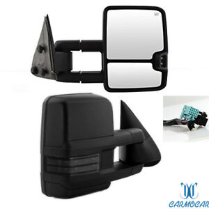 Fit 03 2006 Chevy Silverado Sierra Towing Mirrors Power Heated Led Signals Pair