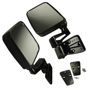 Manual Side View Door Mirrors Left Right Pair Set Fits For 1987 02 Jeep Wrangler