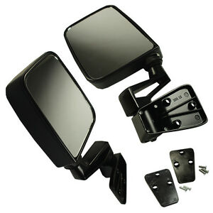 Manual Side View Door Mirrors Left Right Pair Set Fits 1987 2002 Jeep Wrangler