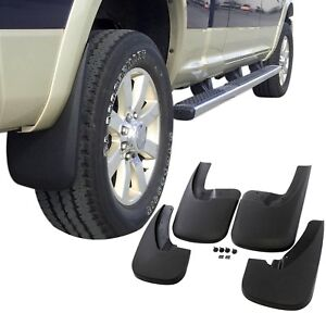 Fits Dodge Ram 1500 Mud Flaps 09 18 Mud Guards Splash Flares 4 Piece Front Rear