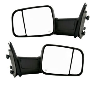 09 12 Ram Truck Power Heat W signal Puddle Lamp Mirror Left Right Side Pair Set