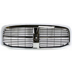 06 09 Ram Truck Front Grill Grille Assembly Chrome Shell Black Insert 55077767af
