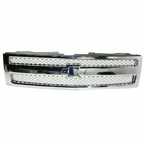 07 13 Chevy Silverado Pickup Truck Grill Grille Assembly Chrome Insert 22849840