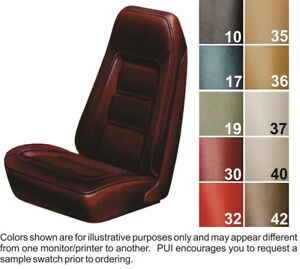 1973 75 Pontiac Firebird Deluxe Front Bucket Seat Covers Pui