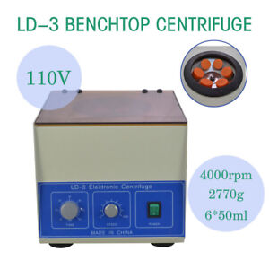 Ld 3 Electric Benchtop Centrifuge Lab Medical Practice 4000rpm
