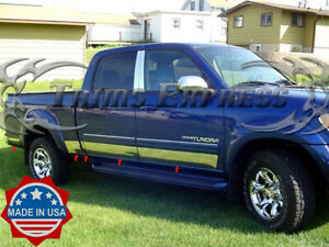 2000 2006 Toyota Tundra Double Cab Short Bed Rocker Panel Trim Stainless Steel