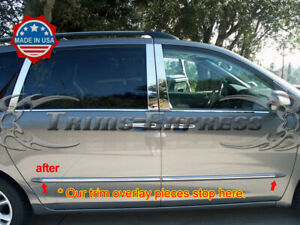 Fit 2004 2010 Toyota Sienna Ltd Only Stainless Body Side Molding Trim Overlay