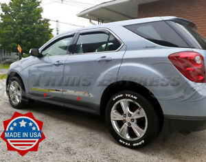 2010 2017 Chevy Equinox 4pc Chrome Body Side Molding Trim Stainless Steel 2 1 2