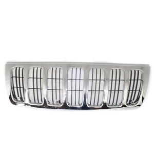 99 03 Grand Cherokee Front Complete Grill Grille Assembly Ch1200234 55155921ac