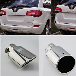 For Renault Koleos 09 16 T304 Stainless Steel Exhaust Pipe Tail Muffler Tip