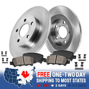 Rear Brake Rotors Ceramic Pads For 2002 2003 2004 2005 Ford Explorer Mountaineer