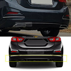 Rear Bumper Diffuser Guard With Chrome Point For Chevrolet 2017 18 All New Cruze