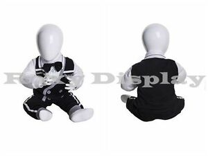 Fiberglass Egghead Infant Mannequin Dress Form Display miu3 mz