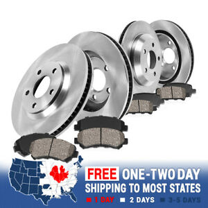 Front And Rear Brake Rotors Ceramic Pads 2010 2017 Chevy Equinox Gmc Terrain