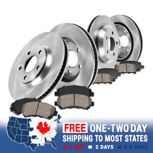Front rear Brake Rotors Ceramic Pads For 2010 2017 Chevy Equinox Gmc Terrain