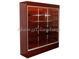 Wall Cherry Display Showcase Retail Store Fixture W lights Knocked Down wc6c sc