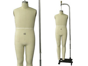 Professional Pro Male Working Dress Form mannequin full Size 42 W legs