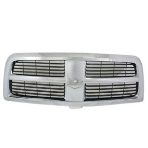 10 12 Ram Pickup Truck Front Chrome Grill Grille Assembly Black insert Ch1200336
