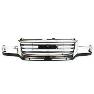 New 03 07 Sierra Hd Pickup Truck Front Grill Grille Assembly Gm1200568 19130795