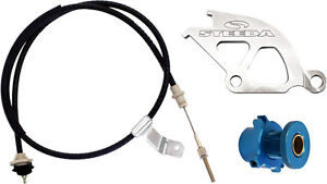 Steeda 555 7040 Clutch Cable With Aluminum Quadrant Adjustable Ford Mustang Kit