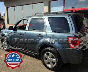 2008 2012 Ford Escape 4pc Chrome Pillar Post Stainless Steel Trim Door Cover