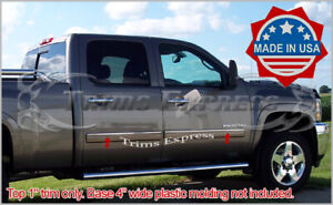 2007 2008 Chevy Silverado Crew Cab 4pc Chrome Body Side Molding Overlay 1 Trim