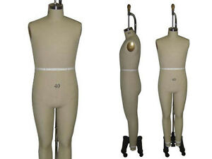 Professional Pro Male Working Dress Form mannequin full Size 40 W legs