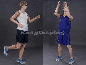 Male Mannequin Flexible Head Arms And Legs Dress Form Display z mfxf md
