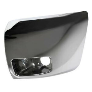 07 13 Chevy Silverado 1500 Front Bumper Extension End W fog Lamp Hole Left Side