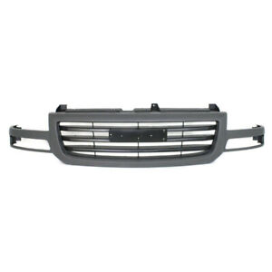 03 07 Sierra Pickup Truck Ld Front Grill Grille Assembly Gray Gm1200476 19130790